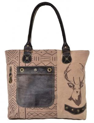 1 Trachtentasche Shopper Canvastasche von DOMELO mit Hirschaufdruck