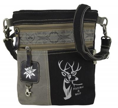 1 Trachtentasche /Schultertasche / Canvastasche von DOMELO mit Hirschaufdruck