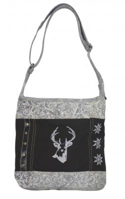 1 Trachtentasche Canvastasche von DOMELO mit Hirschaufdruck
