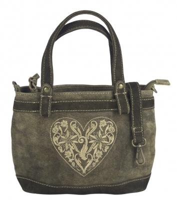 1 Trachtentasche im Antiklook von DOMELO, bestickt  in braun