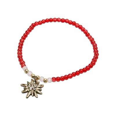1 Perlen - Armband mit Edelweißanhänger von Alpenflüstern, 3 Farben zur Wahl