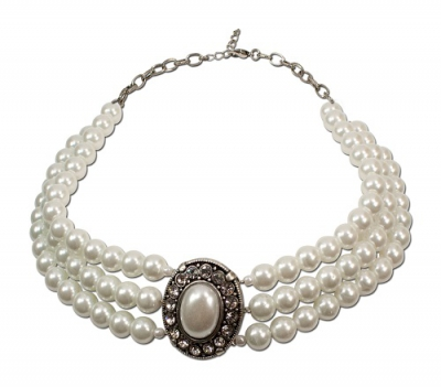 1 Perlen-Kropfkette