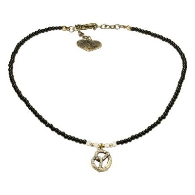 1 Perlen - Halskette mit Brezenanhänger von Alpenflüstern, 5 Farben zur Wahl