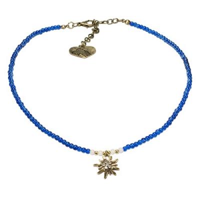 1 Perlen - Halskette mit Edelweißanhänger von Alpenflüstern, 4 Farben zur Wahl
