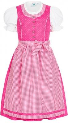 Kinderdirndl in pink von Isar-Trachten, Gr. 104