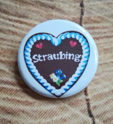 "1 ""Straubing"" - Button, 32 mm"