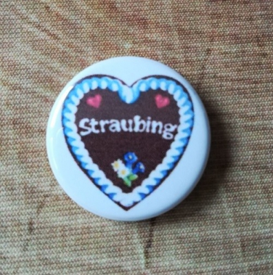 "1 ""Straubing"" - Button, 25 mm"