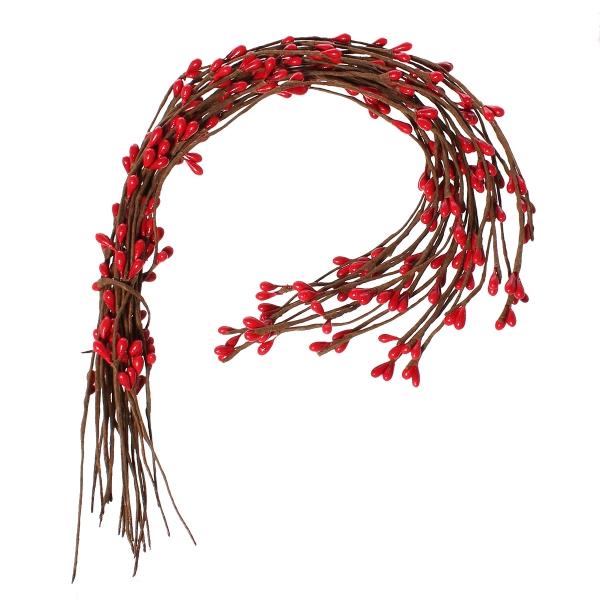 Trachtenladerl - 2 Drähte mit roten Beeren